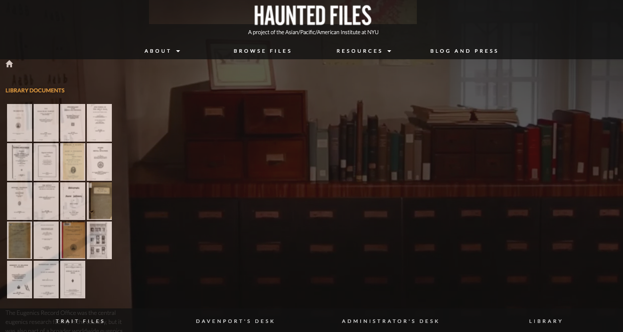 The Haunted Files website screenshot